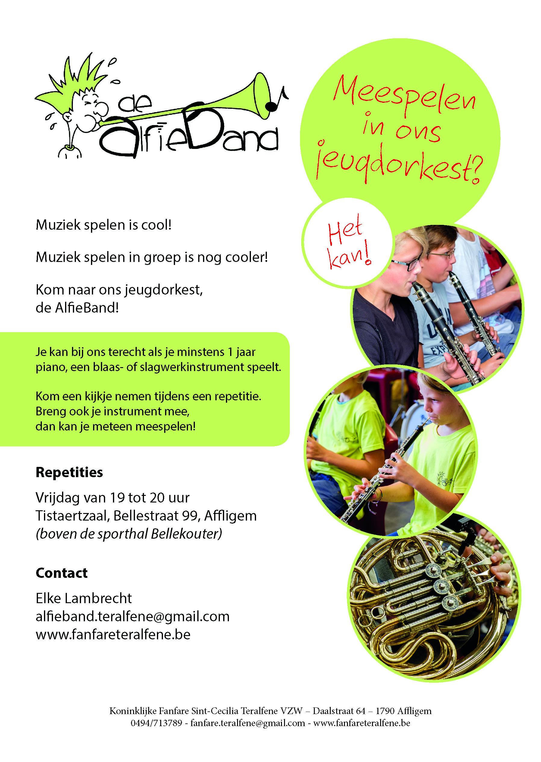 AlfieBand 2018 - flyer